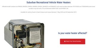 Suburban hot water heater